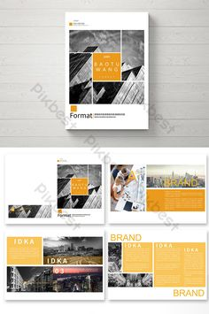 Yellow minimalist style business brochure design Interesting editorial images for inspiration by PR with Perkes Brochure Indesign, Template Brochure, Design Brochure, Booklet Design, Brochure Layout, Magazine Layout Design, Book Design Layout, Design Poster, Corporate Design