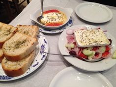 We started with Greek salad and baked cheese at Taverna Kavados in Kavala #goodeats #foodie #foodietravel #Greece