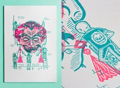 Letterpress print from The Hungry Workshop http://thebeautyofletterpress.com