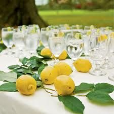 lemon fruits - wedding table decorations - Google Search