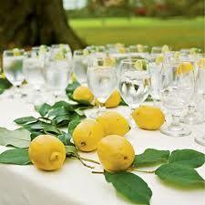lemon fruits - wedding table decorations - Google Search