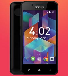 Zen Ultrafone 315 with 4-inch Display and 256MB RAM Official in India - unlock4modem.in