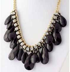 Amazing and so affordable for your Little Black Dress!  Our Eva Teardrop Dangle Black Jewel Fashion Jewelry Necklace & Earrings Set will have you as the hit of the holiday party!  Ships from www.TheShoppingBagStore.com  #LittleBlackDress #CocktailParty