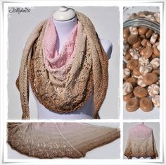 Strickanleitung Lacetuch Caramelito / Knitting Pattern Lace Shawl Caramelito