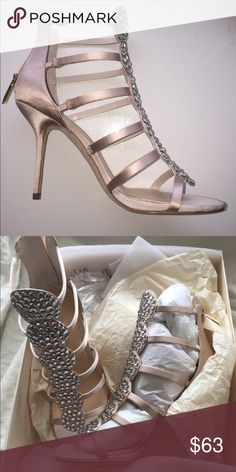 Vince Camuto studded Reya Sandals! Gorgeous satin studded Vince Camuto Reya sandals! BRAND NEW in the box.... closing my retail boutique... selling everything cheap! Imagine by Vince Camuto Shoes Heels