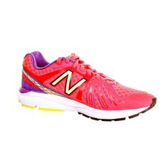 360 Photograph of a Ladies Pink New Balance Running Trainer