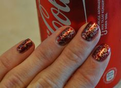 OPI An Affair In Red Square, stamped with China Glaze Passion and MoYou London plate Suki Collection 07.