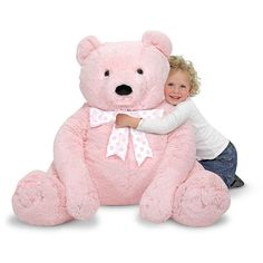 "Melissa & Doug Jumbo Pink Teddy Bear - Melissa & Doug - Toys ""R"" Us"