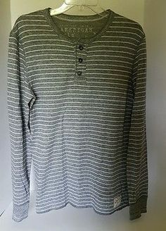 Womens American Eagle Gray Long Sleeve Henley Tee Vintage Fit S/P