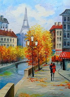 Walking in Paris Art Print by Olha Darchuk. All prints are professionally printed, packaged, and shipped within 3 - 4 business days. Choose from multiple sizes and hundreds of frame and mat options. Paris Painting, Indian Art Paintings, Paris Art, Pastel Art, Art Sketchbook, Landscape Art, Fine Art America, Watercolor Paintings, Canvas Art