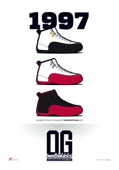OG Sneaker Series x MelonKicks Prints on Behance Sneakers Box, Casual Sneakers, Sneakers Nike, Sneakers Wallpaper, Shoes Wallpaper, Nike Basketball Shoes, Nike Shoes, Zapatillas Jordan Retro, Basketball