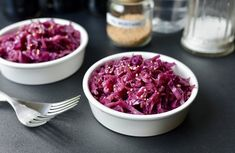 How to make Braised Red Cabbage in a skillet - ButterYum. Sweet and Sour Red Cabbage. Sauteed Red Cabbage, Red Cabbage Recipes, Braised Red Cabbage, Cabbage Soup, Sweet And Sour Cabbage, Marinated Tomatoes, Bangers And Mash, Roasted Shrimp, Vegetarian Cabbage