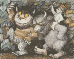 Wild Things Cross Stitch EPattern by jpcrossstitch on Etsy, $3.95