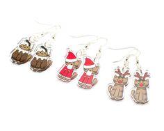 DoodleCats - Christmas Cat Earrings, £8.00 (http://www.doodlecatsshop.co.uk/christmas-cat-earrings/)