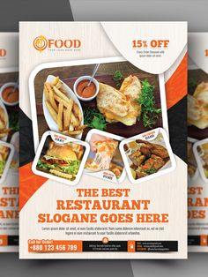 Restaurant Flyer Template Restaurant flyer Food graphic design Food poster design