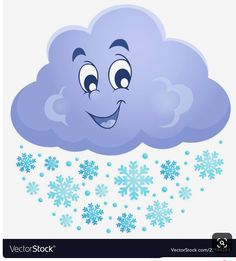 Winter cloud theme image 1 vector image on VectorStock Art Drawings For Kids, Drawing For Kids, Cute Drawings, Weather For Kids, Diy For Kids, Crafts For Kids, Cartoon Clouds, Cartoon Sun, Picture Cloud