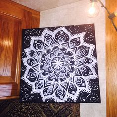 These black canvases made me think of chalkboards (probably were meant to do so lol). I bought a set of two to try out.. Just very quickly threw down a messy mandala with some dotted swirls in the...