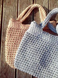 Punto bolsa / bolso de la cuerda / hecho a mano por NataNatastudio
