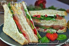 Sanduíche de Salmão e Rúcula » Receitas Saudáveis, Sanduíches » Guloso e Saudável