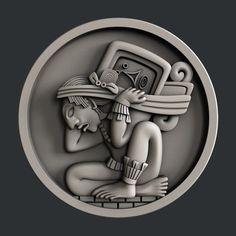 STL models for CNC set 9 models totems Aztec Symbols, Mayan Symbols, Ancient Symbols, Viking Symbols, Egyptian Symbols, Viking Runes, Glyphs Symbols, Mayan Glyphs, Inka Tattoo