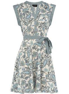 Blue paisley print dress #dorothyperkins