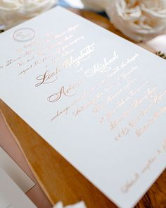 """@leahemoss posted to Instagram: """"Appreciation is the highest form of prayer, for it acknowledges the presence of good wherever you shine the light of your thankful thoughts."""" ✨✨✨ -Alan Cohen Rose gold foil invitations (for our own wedding): @leahemoss Photo: @caseybrodley #customweddinginvitation #custominvitation #weddinginvitations #weddingstationery #weddinginvites #weddinginvitation #elegantweddinginvitation #luxuryinvitations #weddingdetails #invitations #weddi Foil Stamped Wedding Invitations, Letterpress Invitations, Watercolor Invitations, Elegant Wedding Invitations, Custom Invitations, Wedding Stationery, First Wedding Anniversary Gift, Rose Gold Foil, Wedding Calligraphy"""