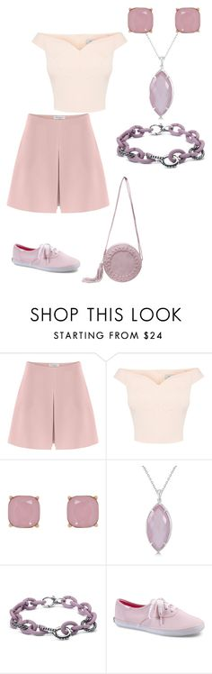 """""""pink shorts"""" by mcounce ❤ liked on Polyvore featuring Valentino, Humble Chic, Allurez and Keds"""