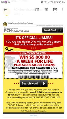Win For Life, Publisher Clearing House, Online Sweepstakes, Image Please, Acting, Make It Yourself, Board, Planks