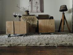 Boomstam meubels van eikenhout - mooi als salontafel- | SUPER STOER EN STRAK | Stoereplanken.nl
