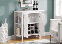 home bar liquor cabinet in white