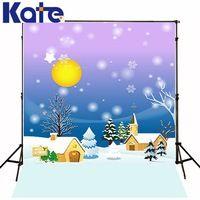 200Cm*150Cm Backgrounds Animation World Winter Snow Moon Night Photography Backdrops Photo Lk 1262