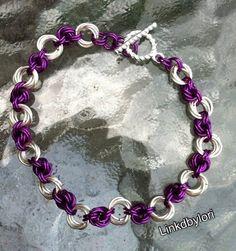 New!! Purple and Silver Love Knot Mobius Bracelet! | Linkdbylori - Jewelry on ArtFire