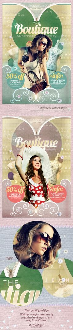 The Boutique Flyer Template Template / $6. *** This flyer is perfect for the promotion of Shops/Boutiques, Fashion Shows, New Collections or whatever you want!. This Template Brings a Boho Unique Look and Feel For Your Business Marketing. ***