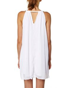 SURFSTITCH - WOMENS - DRESSES - CASUAL DRESSES - SASS GRACIE DETAIL DRESS WHITE - WHITE
