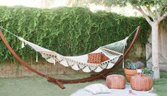 The Danish trend of Hygge is not just for cozy fall and winter decor. Here are some easy tips for creating a summer Hygge home. Backyard Hammock, Backyard Picnic, Small Backyard Landscaping, Hammock Ideas, Landscaping Ideas, Outdoor Entertaining, Outdoor Fun, Outdoor Spaces, Outdoor Living