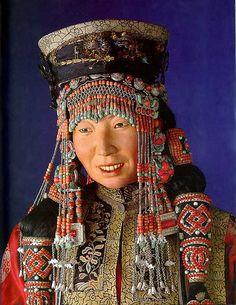 Mongolian woman's costume. National Museum, Copenhagen Denmark