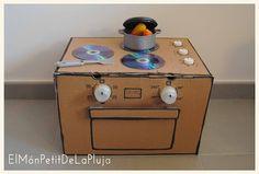 El Món Petit de la Pluja: DIY - Una Cocina con Cajas de Cartón 1º Parte: Hor...