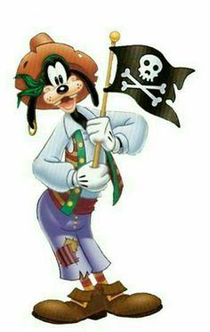 Goofy the Pirate Goofy Disney, Walt Disney Characters, Disney Love, Cartoon Characters, Disney Drawings, Cartoon Drawings, Cartoon Art, Disney Images, Disney Pictures