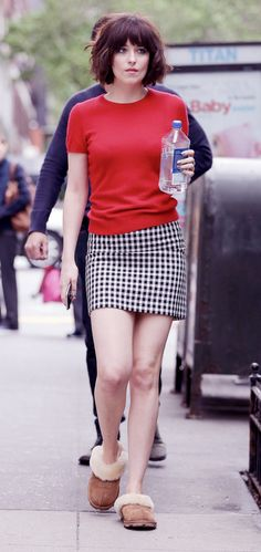 Dakota Johnson on set of How To Be Single in NY - 18 May 2015