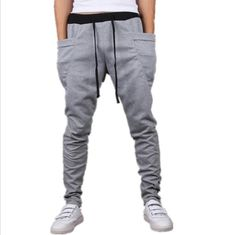 2017 NEW HOT SALE Male Skinny Trousers Solid Hip Hop Cargo Pants Men's Harem Pencil Pants Men Plus Size XXXL FREE SHIPPING
