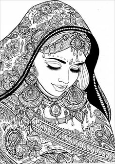 Superb Indian Coloring Book