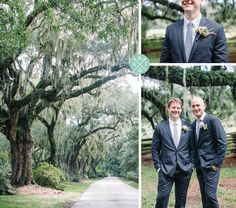 Groomsmen at Magnolia Plantation under the spanish moss and live oak trees // Aaron and Jillian Photography » Husband and Wife International Engagement & Wedding Photographers based in Charleston, South Carolina.
