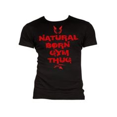 BLACK MADNESS NATURAL BORN MEN BLACK Cotton t-shirt designed by Dr. Black Madness; 100% cotton with the print; NATURAL BORN GYM THUG