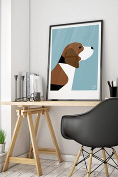 CLICK THE IMAGE to check out our collection of modern dog prints, available from £20, with FREE UK delivery. This is a must have for any dog lover or makes the ideal dog owner gift. The modern design art prints are available in a wide range of colours to suit any interior style and are the perfect addition to any home. #dogart #dogbreeds #dogs #beagle #dogownergift
