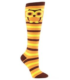 Last pairs of these knee high striped owl socks. Get yours before nobody gives a…