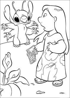 Desenhos para colorir Lilo e Stitch 7
