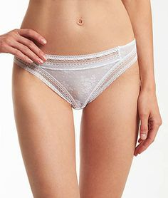 Lace thong IMPERTINENTE WHITE