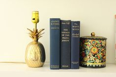 Vintage Brass Pineapple Lamp by louloumint on Etsy, $110.00
