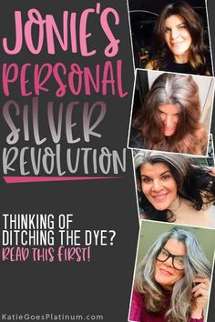 After 30  years of dyeing, Jonie, the founder of the gray hair Facebook group Silver Revolution, decided to ditch the dye and let her long brunette hair go gorgeously gray!  Check out her tips for the gray hair transition at 50.  Her long silver hair is simply gorgeous, and shows that those old rules about cutting your hair short over 40 are way outdated! Long Silver Hair, Long Gray Hair, Ball Hairstyles, Hairstyles Over 50, Dye My Hair, Your Hair, Hair Gummies, Grey Hair Journey, Grey Hair Over 50