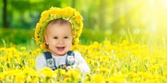 Happy baby girl in a wreath on meadow with yellow flowers on t - Stock Ph , Funny Babies, Funny Kids, Cute Babies, Funny Baby Pictures, Baby Girl Pictures, Baby Wallpaper, Little Baby Girl, Little Babies, Child Baby